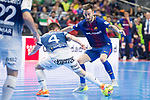 Barcelona Lassa Mario Rivillos and R. Renov. Zaragoza Oscar Villanueva during Futsal Spanish Cup 2018 at Wizink Center in Madrid , Spain. March 16, 2018. (ALTERPHOTOS/Borja B.Hojas)