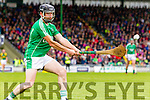 Kilmoyley in action against Thomas Slattery Ballyduff in the County Senior Hurling Final at Austin Stack Park on Sunday.
