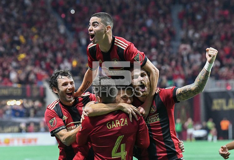 Franco Escobar goalAtlanta, Georgia - Sunday, November 25, 2018. Atlanta United defeated the New York Red bulls, 3-0, in the first leg of the MLS Eastern Conference Final in front of a crowd of 70,016 at Mercedes-Benz Stadium.
