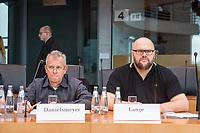 Oeffentliche Sitzung des Sportausschusses des Deutschen Bundestag am Mittwoch den 4. Maerz 2020 zum Rechtsextremismus im Fussball.<br /> Im Bild vlnr.: Thilo Danielsmeyer, Fan-Projekt Dortmund;<br /> Marek Lange, (Fanabteilung) SG Dynamo Dresden.<br /> 4.3.2020, Berlin<br /> Copyright: Christian-Ditsch.de<br /> [NUR FUER REDAKTIONELLE ZWECKE! Werbung nur auf Anfrage beim Fotografen. Inhaltsveraendernde Manipulation des Fotos nur nach ausdruecklicher Genehmigung des Fotografen. Vereinbarungen ueber Abtretung von Persoenlichkeitsrechten/Model Release der abgebildeten Person/Personen liegen nicht vor. NO MODEL RELEASE! Don't publish without copyright Christian-Ditsch.de, Veroeffentlichung nur mit Fotografennennung, sowie gegen Honorar, MwSt. und Beleg. Konto: I N G - D i B a, IBAN DE58500105175400192269, BIC INGDDEFFXXX, Kontakt: post@christian-ditsch.de<br /> Bei der Bearbeitung der Dateiinformationen darf die Urheberkennzeichnung in den EXIF- und  IPTC-Daten nicht entfernt werden, diese sind in digitalen Medien nach §95c UrhG rechtlich geschuetzt. Der Urhebervermerk wird gemaess §13 UrhG verlangt.]