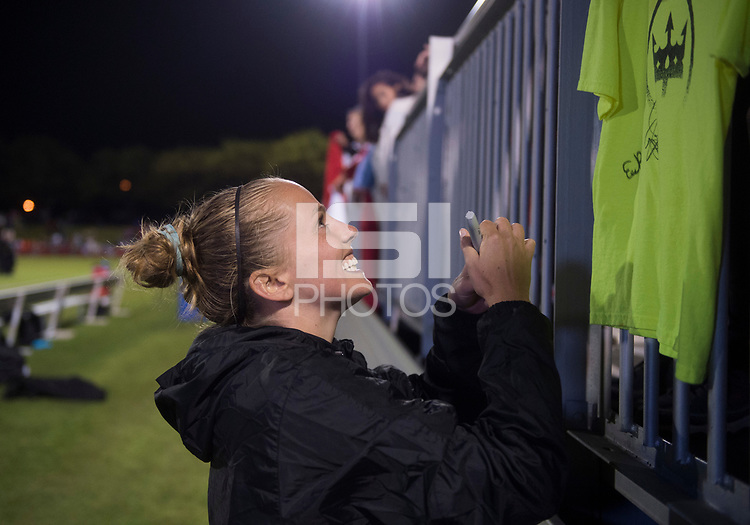 Boyds, MD - Saturday September 30, 2017: Elli Reed, Fans during a regular season National Women's Soccer League (NWSL) match between the Washington Spirit and the Seattle Reign FC at Maureen Hendricks Field, Maryland SoccerPlex.