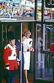 "Princess Diana and Prince Charles depart the J.C. Penney department store in Springfield, Virginia on November 11, 1985 following their tour of its ""Best of Britain"" merchandise sale.<br /> Credit: Howard L. Sachs / CNP"