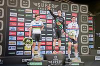 Elite Women's Podium:<br /> 1/ Maud Kaptheijns (NED/Crelan-Charles)<br /> 2/ Sanne Cant (BEL/Iko-Beobank)<br /> 3/ Nikki Brammeier (GBR/Doels-Bolmans)<br /> <br /> CX Super Prestige Zonhoven 2017