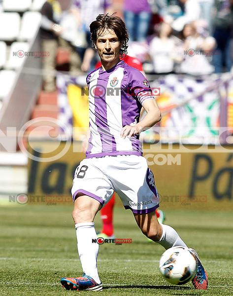 Real Valladolid's Alvaro Rubio during La Liga match.April 13,2013. (ALTERPHOTOS/Acero)