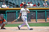 Kaleb Cowart (31) of the Salt Lake Bees at bat against the Fresno Grizzlies in Pacific Coast League action at Smith's Ballpark on June 14, 2015 in Salt Lake City, Utah.  (Stephen Smith/Four Seam Images)