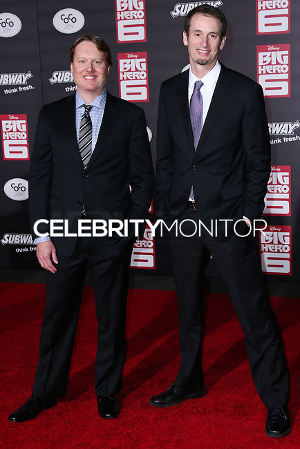 HOLLYWOOD, LOS ANGELES, CA, USA - NOVEMBER 04: Don Hall, Chris Williams arrive at the Los Angeles Premiere Of Disney's 'Big Hero 6' held at the El Capitan Theatre on November 4, 2014 in Hollywood, Los Angeles, California, United States. (Photo by Xavier Collin/Celebrity Monitor)