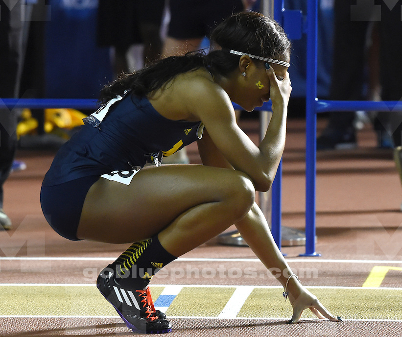 The University of Michigan women's track team competes in the NCAA D1 2016 Indoor Track & Field Championships at the Birmingham Crossplex in Birmingham, Ala., Saturday, March 12, 2016.