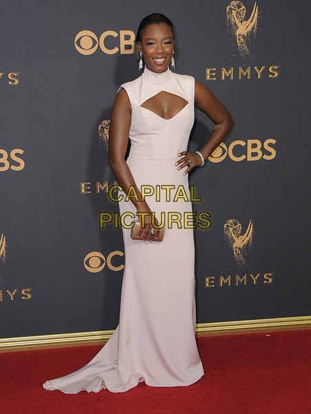 17 September  2017 - Los Angeles, California - Samira Wiley. 69th Annual Primetime Emmy Awards - Arrivals held at Microsoft Theater in Los Angeles. <br /> CAP/ADM/BT<br /> &copy;BT/ADM/Capital Pictures