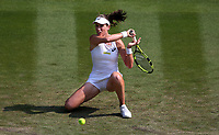Johanna Konta (GBR) during her match against Dominika Cibulkova (SVK)<br /> <br /> Photographer Rob Newell/CameraSport<br /> <br /> Wimbledon Lawn Tennis Championships - Day 4 - Thursday 5th July 2018 -  All England Lawn Tennis and Croquet Club - Wimbledon - London - England<br /> <br /> World Copyright v&Ccedil;&not;&copy; 2017 CameraSport. All rights reserved. 43 Linden Ave. Countesthorpe. Leicester. England. LE8 5PG - Tel: +44 (0) 116 277 4147 - admin@camerasport.com - www.camerasport.com