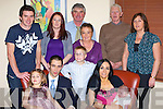 Oonagh and Ronan McGregor Listry celebrate christening their daughter Eabha in Lord Kenmare's restaurant, Killarney on Saturday night front row l-r: Michelle, Ronan, Sean Nolan, Oonagh, Eabha McGregor. Back row: Shay Nolan, Marsha McGregor, James Nolan, Sheila Nolan, Tony and Bridget McGregor  .   Copyright Kerry's Eye 2008