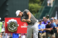Brooks Koepka (USA) tees off the 1st tee to start Saturday's Round 3 of the 2017 PGA Championship held at Quail Hollow Golf Club, Charlotte, North Carolina, USA. 12th August 2017.<br /> Picture: Eoin Clarke | Golffile<br /> <br /> <br /> All photos usage must carry mandatory copyright credit (&copy; Golffile | Eoin Clarke)