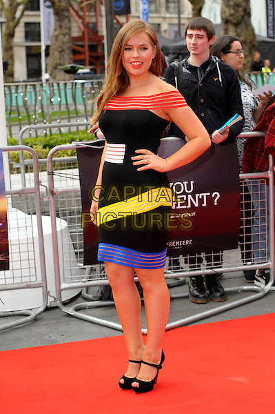LONDON, ENGLAND - MARCH 30: Tanya Burr attends the European premiere of 'Divergent' at Odeon Leicester Square on March 30, 2014 in London, England. <br /> CAP/CJ<br /> &copy;Chris Joseph/Capital Pictures