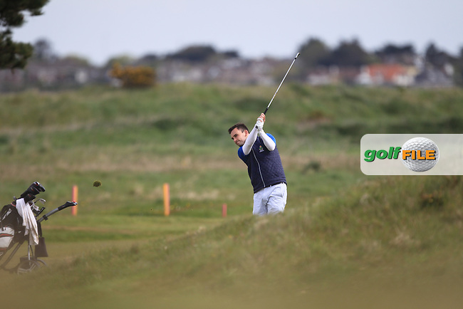 Ian O'Rourke (The Royal Dublin) on the 13th fairway during Round 1 of the Flogas Irish Amateur Open Championship at Royal Dublin on Thursday 5th May 2016.<br /> Picture:  Thos Caffrey / www.golffile.ie
