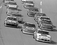 frontstretch draft pack action Winston 500 at Talladega Superspeedway in Talladega , AL in May 1989.  (Photo by Brian Cleary/www.bcpix.com)