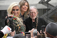 NEW YORK, NY - NOVEMBER 20: Ke$ha and Willie Nelson on NBC's Today Show at Rockefeller Center in New York City. November 20, 2012. Credit: RW/MediaPunch Inc. /NortePhoto
