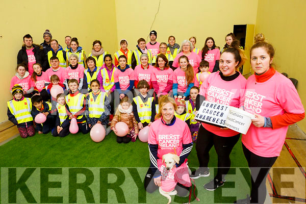 At the launch of the Abbeydorney Community getting North Kerry fit and healthy initiative and also fundraising for Breast Cancer Awareness, Breast Cancer Research.<br /> In front are the Organising Committee, kneeling Laura Collins with Chloe Neenan and Erin Sheehan.