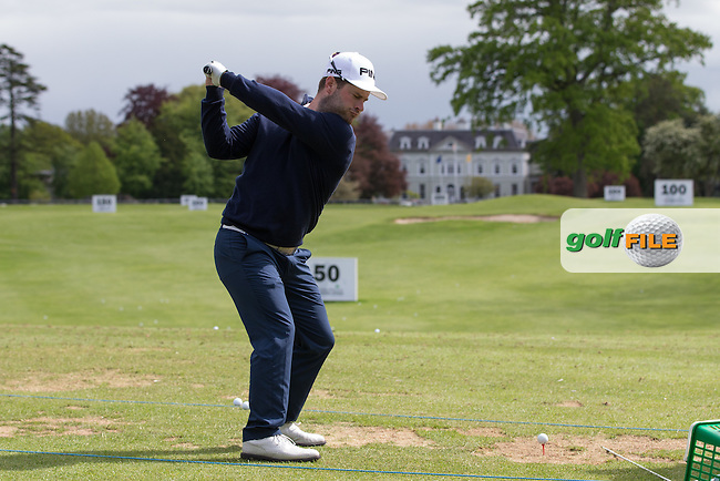 David Lingmerth (SWE) on the driving range, during Wednesday's Pro-Am day ahead of the 2016 Dubai Duty Free Irish Open Hosted by The Rory Foundation which is played at the K Club Golf Resort, Straffan, Co. Kildare, Ireland. 18/05/2016. Picture Golffile | David Lloyd.<br /> <br /> All photo usage must display a mandatory copyright credit as: &copy; Golffile | David Lloyd.