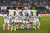 February 1st 2019; Adu Dhabi, United Arab Emirates; Asian Cup football final, Japan versus Qatar; Players of Qatar line up ahead of the final match