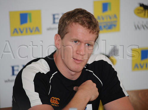 Wasps Media Day 17th August 2010. Club Captain Tom Rees