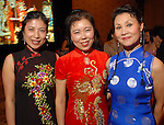 From left: Grace Fu, Rosay Ha and Chery Pan at the Asia Society Gala at the InterContinental Houston Hotel Thursday Feb. 26, 2009.(Dave Rossman/For the Chronicle)