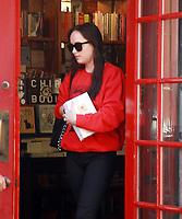 NEW YORK, NY - OCTOBER 18: Dakota Johnson shopping at Three Lives & Co. in New York October 18, 2017. Credit: RW/MediaPunch /NortePhoto.com