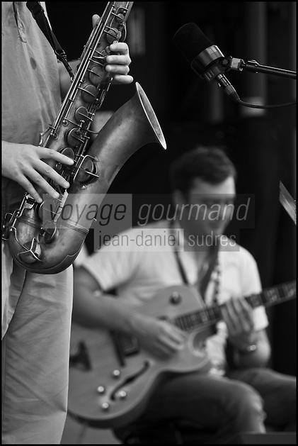 Europe/France/Midi-Pyrénées/32/Gers/Marciac:  Pendant le Festival de jazz: Jazz in Marciac