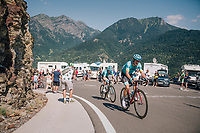 Jakob Fuglsang (DEN/Astana) up the final climb of the day (in Spain!): the Col du Portillon (Cat1/1292m)<br /> <br /> Stage 16: Carcassonne &gt; Bagn&egrave;res-de-Luchon (218km)<br /> <br /> 105th Tour de France 2018<br /> &copy;kramon
