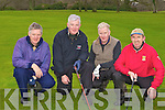Paul Dickson Canada, James Tarrant, William Tarrant and Ken Grive all Killarney taking advantage of the good weather for a round in Killeen golf course on Saturday