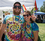 Jeremy and Erin attend the Northern Nevada Pride Parade and Festival in Reno on Saturday, July 23, 2016.