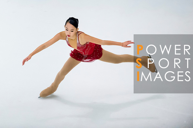 Anna Chang competes during the Asian Junior Figure Skating Challenge 2015 on October 07, 2015 at the Festival Walk Mall in Hong Kong, China. Photo by Aitor Alcalde/ Power Sport Images