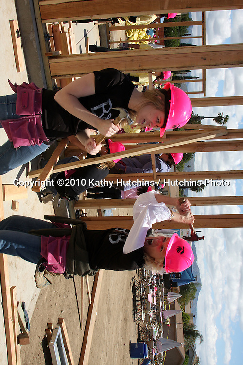 Kimberly Matula, Alley Mills.at the Habitat For Humanity San Fernando/Santa Clarita  Valleys Women Empowerment Building Site - TV & Soap Stars.Habitat for Humanity build site, 12600 Carl St..Pacoima, CA.May 23, 2010.©2010 Kathy Hutchins / Hutchins Photo..