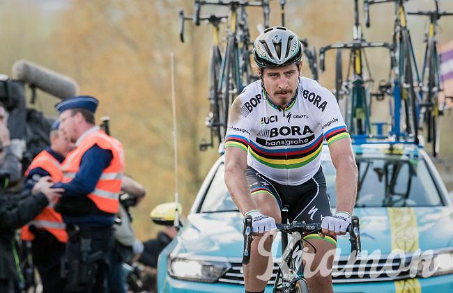 Peter Sagan (SVK/Bora-Hansgrohe) appearing on top of the Paterberg thrown back due to a crash just before on the Oude Kwaremont<br /> <br /> 101th Ronde Van Vlaanderen 2017 (1.UWT)<br /> 1day race: Antwerp &rsaquo; Oudenaarde - BEL (260km)