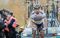 Peter Sagan (SVK/Bora-Hansgrohe) appearing on top of the Paterberg thrown back due to a crash just before on the Oude Kwaremont<br /> <br /> 101th Ronde Van Vlaanderen 2017 (1.UWT)<br /> 1day race: Antwerp &rsaquo; Oudenaarde - BEL (260km)