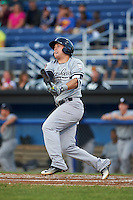 Staten Island Yankees third baseman Billy Fleming (20) at bat during a game against the Batavia Muckdogs on August 26, 2016 at Dwyer Stadium in Batavia, New York.  Staten Island defeated Batavia 6-2.  (Mike Janes/Four Seam Images)