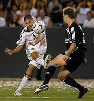 Los Angeles Galaxy midfielder (18) Kyle Martino against D.C. United at the Home Depot Center in Carson, CA on Wednesday, August 15, 2007. The Los Angeles Galaxy defeated D. C. United 2-0 in a SuperLiga semifinal match..