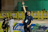 NEIVA - COLOMBIA, 19-05-2018: Diego Corredor técnico de Patriotas F.C. gesticula durante partido de vuelta contra Atlético Huila por los cuartos de final de la Liga Águila I 2018 jugado en el estadio Guillermo Plazas Alcid de la ciudad de Neiva. / Diego Corredor coach of Patriotas F.C. gestures during second leg match against Atletico Huila for the quarterfinals of the Aguila League I 2018 played at Guillermo Plazas Alcid in Neiva city. VizzorImage / Sergio Reyes / Cont