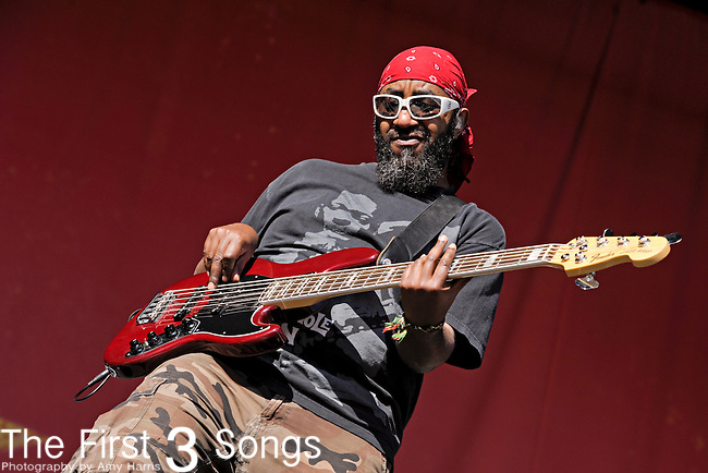 "Thomas ""Tommy T"" Gobena of Gogol Bordello performs during Day 1 of the Orlando Calling music festival at Citrus Bowl Park in Orlando, Florida on November 12, 2011."