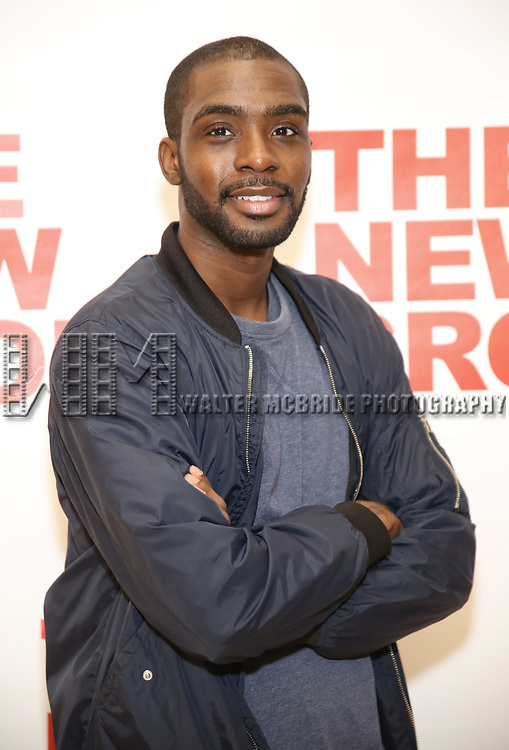Moise Morancy attends the cast photo call for the New Group Production on 'Downtown Race Riot' on October 23, 2017 at The New 42nd Street Studios in New York City.