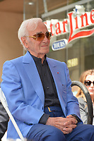 Charles Aznavour at the the Hollywood Walk of Fame star ceremony honoring French singer Charles Aznavour on Hollywood Boulevard, USA 24 Aug. 2017<br /> Picture: Paul Smith/Featureflash/SilverHub 0208 004 5359 sales@silverhubmedia.com