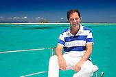 Gabriel Gaté on Catamaran, at Goeland islet, Noumea