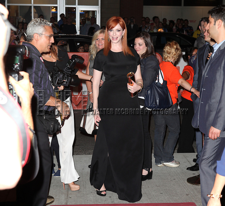 Christina Hendricks attending the The 2012 Toronto International Film Festival.Red Carpet Arrivals for 'Ginger And Rosa' at the Elgin Theatre in Toronto on 9/7/2012