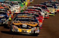 Nov 13, 2005; Phoenix, Ariz, USA;  Nascar Nextel Cup driver Matt Kenseth driver of the #17 Dewalt Tools Ford leads the field during the Checker Auto Parts 500 at Phoenix International Raceway. Mandatory Credit: Photo By Mark J. Rebilas