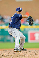 Tampa Bay Rays relief pitcher Alex Torres (54) in action against the Detroit Tigers at Comerica Park on June 4, 2013 in Detroit, Michigan.  The Tigers defeated the Rays 10-1.  Brian Westerholt/Four Seam Images