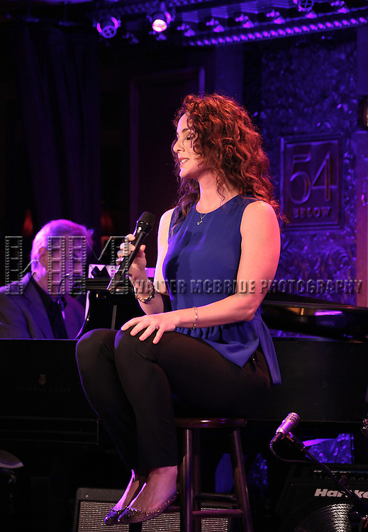 John Oddo with Melissa Errico performing a press preview at 54 Below on 10/24/2012 in New York City.