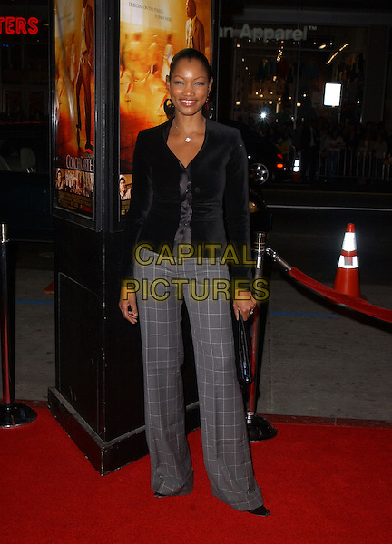 "GARCELLE BEAUVAIS-NILON.Paramount Pictures' L.A. Premiere of ""Coach Carter"" held at The Grauman's Chinese Theatre in Hollywood, California .January 13th, 2005 .full length grey gray checkered pattern trousers, black cardigan.www.capitalpictures.com.sales@capitalpictures.com.Supplied By Capital PIctures"