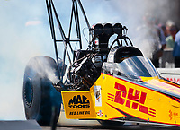 Oct 12, 2019; Concord, NC, USA; NHRA top fuel driver Richie Crampton during qualifying for the Carolina Nationals at zMax Dragway. Mandatory Credit: Mark J. Rebilas-USA TODAY Sports