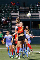 Rochester, NY - Friday July 01, 2016: Western New York Flash defender Alanna Kennedy (8) during a regular season National Women's Soccer League (NWSL) match between the Western New York Flash and the Chicago Red Stars at Rochester Rhinos Stadium.