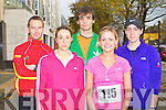 10KM RUN: Having a great time at the Mini-Marathon in aid of the Kerry Careers Association at the Brandon hotel, Tralee on Sunday l-r: Richie O'Donnell, Agnes Nigay, Christophe Coelo, Deirdre Heffernan and Alison Reidy.