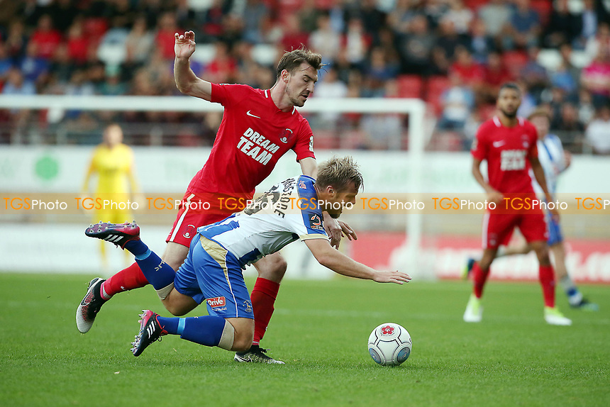 O's Craig Clay & Nicky Featherstone during Leyton Orient vs Hartlepool United, Vanarama National League Football at The Breyer Group Stadium on 13th October 2018