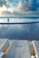 While Cancún has some of the most beautiful white-sand beaches in the world, there is something special about enjoying sunrise at a spectacular infinity pool. Located in the heart of the Hotel Zone, Live Aqua Cancún is an Asian inspired exclusive luxury hotel and all-inclusive resort...for adults only.